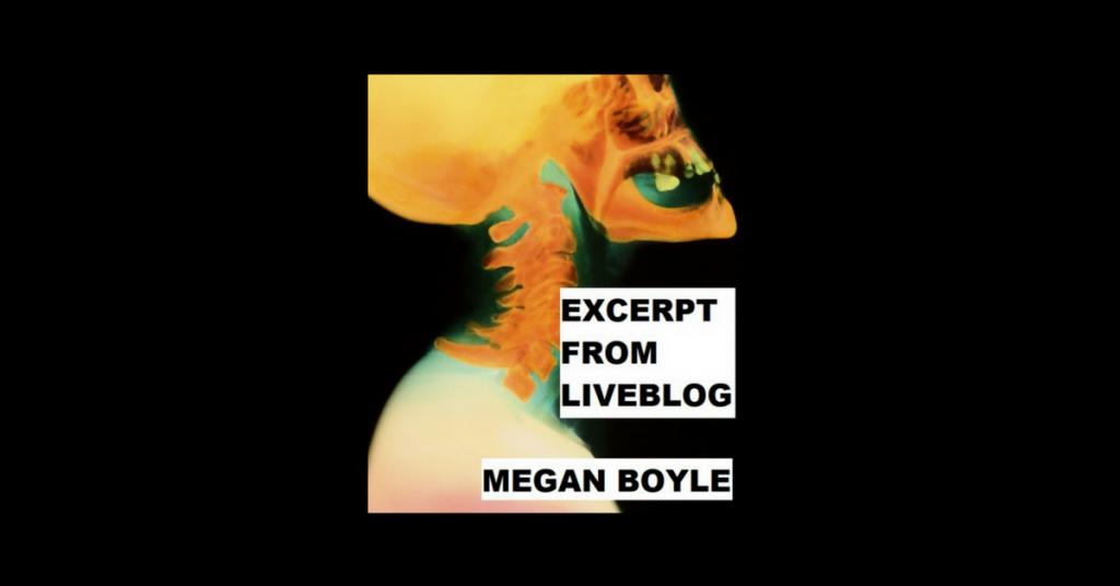 """""""LIVEBLOG"""" EXCERPT by Megan Boyle"""