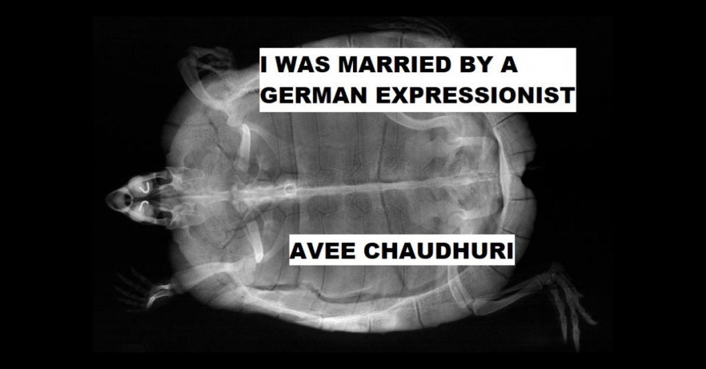 I WAS MARRIED BY A GERMAN EXPRESSIONIST by Avee Chaudhuri