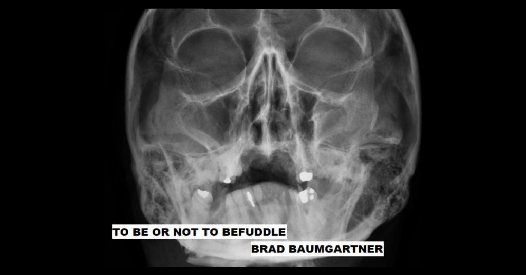 TO BE OR NOT TO BEFUDDLE by Brad Baumgartner
