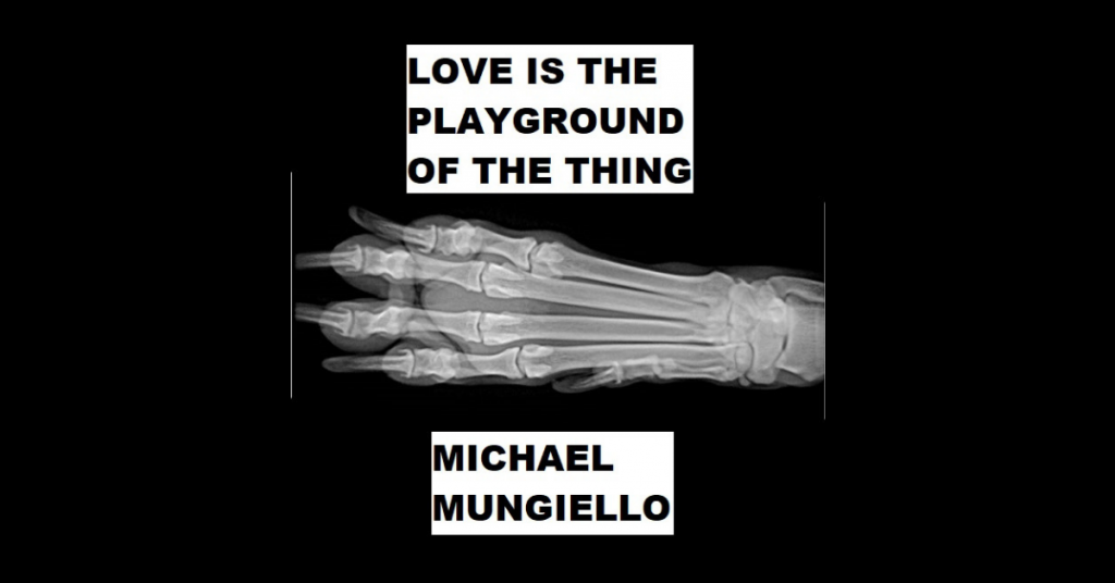 LOVE IS THE PLAYGROUND OF THE THING by Michael Mungiello