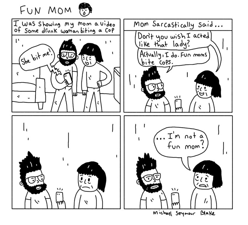 """FUN MOM"" by Michael Seymour Blake"