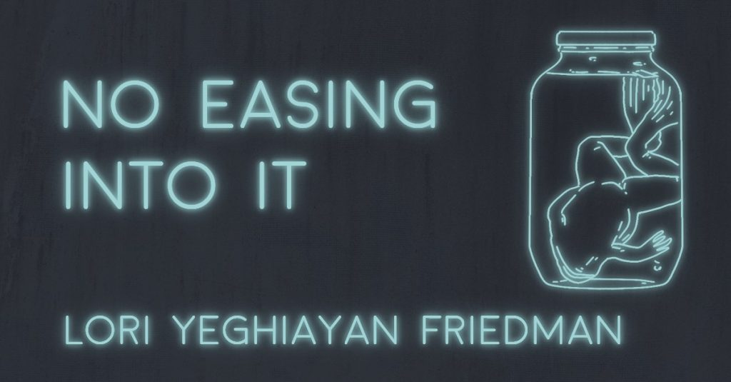 NO EASING INTO IT by Lori Yeghiayan Friedman