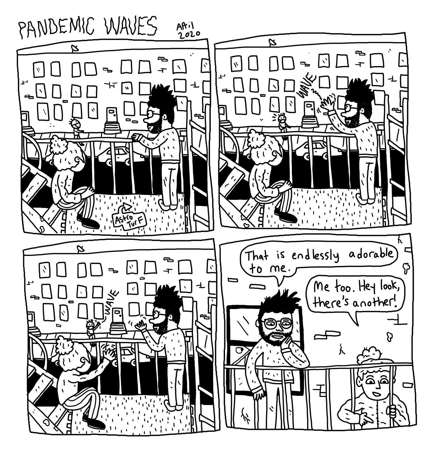 """""""PANDEMIC WAVES"""" by Michael Seymour Blake"""