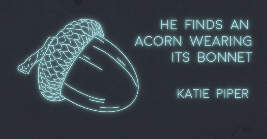 HE FINDS AN ACORN WEARING A BONNET by Katie Piper