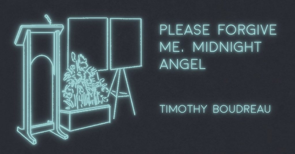 PLEASE FORGIVE ME, MIDNIGHT ANGEL by Timothy Boudreau