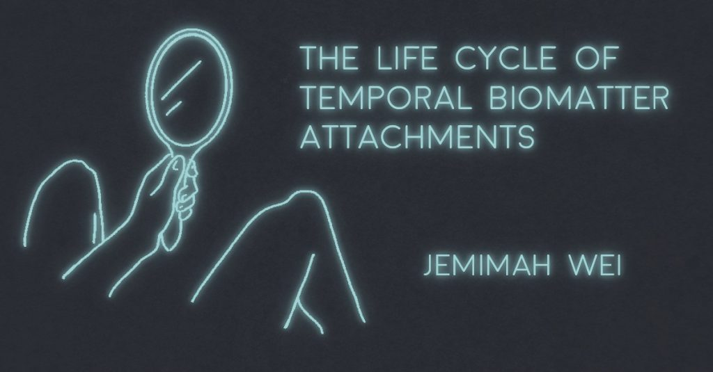 THE LIFE CYCLE OF TEMPORAL BIOMATTER ATTACHMENTS by Jemimah Wei