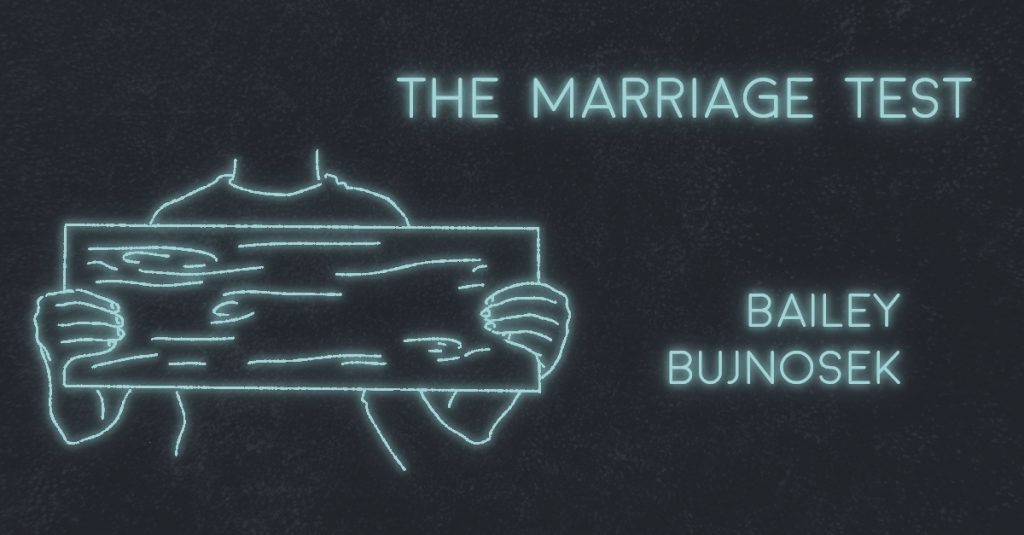 THE MARRIAGE TEST by Bailey Bujnosek
