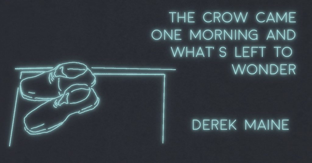 THE CROW CAME ONE MORNING AND WHAT'S LEFT TO WONDER? by Derek Maine